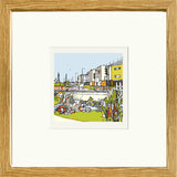 Print of Blackpool FC, Bloomfield Road in an Oak Frame image of