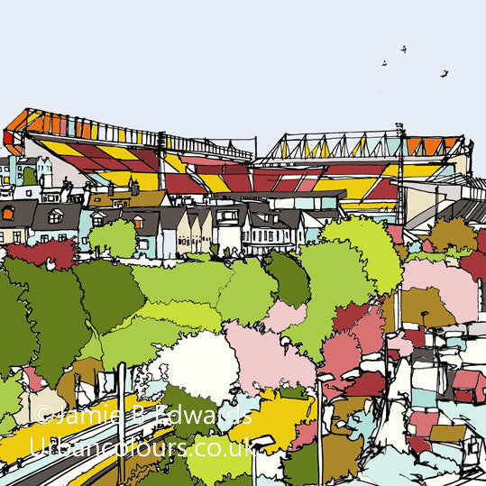 Print of Bradford City AFC Valley Parade image of