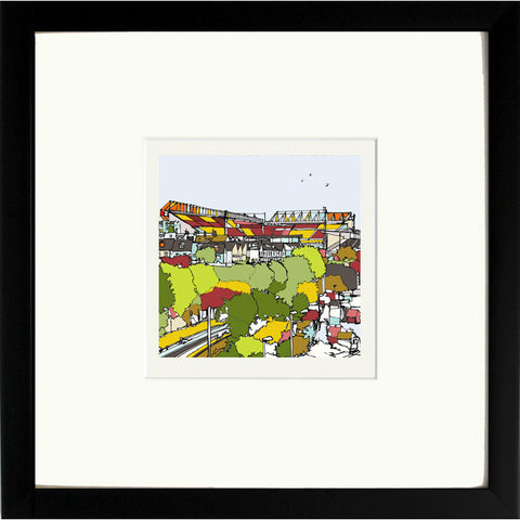Print of Bradford City AFC Valley Parade in Black Frame image of