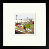 Brentford FC's Griffin Park Print framed in black image of