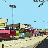 Print of Burnley FC's Turf Moor Ground image of