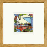 Print of Bury FC's Gigg Lane Ground in Oak Frame image of