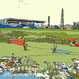 Carlisle United Print of Brunton Park, A fantastic gift for any Carlisle fan