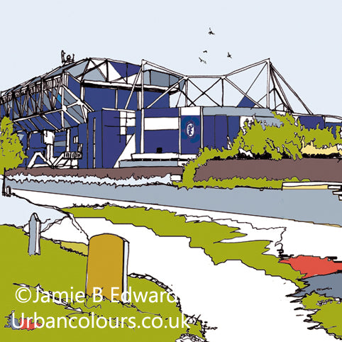 Chelsea FC's Stamford Bridge Print image of