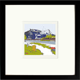 Chelsea FC's Stamford Bridge Print Framed in Black image of