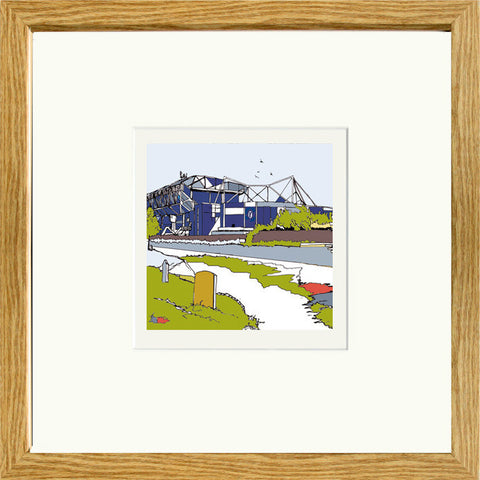 Chelsea FC's Stamford Bridge Print Framed in Oak image of