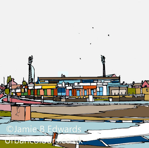 Print of Chesterfield FC's Salter Gate Ground image of