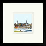 Print of Chesterfield FC's Salter Gate Ground Black Frame image of