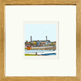Print of Chesterfield FC's Salter Gate Ground Oak Frame image of
