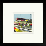 Print of Gresty Road Crewe Alexandra FC with Black Frame image of