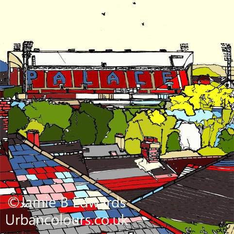 Crystal Palace FC's Selhurst Park Print image of