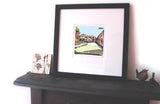 The Ewood View Print displayed in the home image of