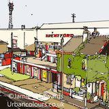 Print of Brentford FC's Griffin Park image of