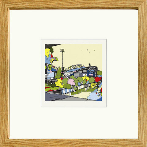 Huddersfield Town's John Smiths Stadium Print Framed in oak image of