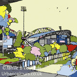 Print of Huddersfield Town's John Smiths Stadium image of