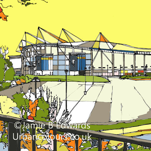 Hull City AFC's KC Stadium Print image of