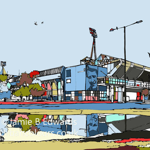 Print of Ipswich Town's Portman Road Ground image of
