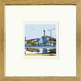 Print of Ipswich Town's Portman Road Ground in Oak Frame image of