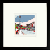 Print of Middlesborough FC's Ayresome Park framed in black image of