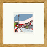 Print of Middlesborough FC's Ayresome Park framed in Oak image of