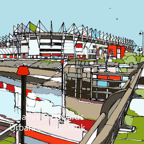 Print of Middlesbrough FC's Riverside Stadium image of