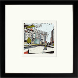 Newcastle United's St James Park Print Framed in Black image of