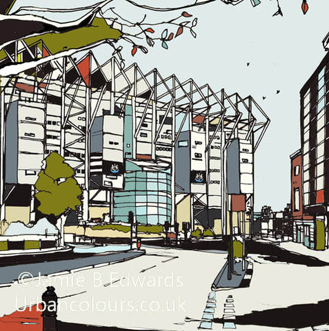 Newcastle United's St James Park Print image of