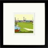 Print of Boundary Park Oldham Athletic FC in Black Frame image of