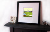 Boundary Park Print on a mantlepiece image of