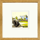 Oxford United's Kassam Stadium Print Framed in Oak image of