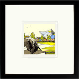 Oxford United's Kassam Stadium Print Framed in Black image of