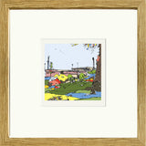 Print of Port Vale FC's Vale Park in Oak Frame image of