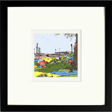 Print of Port Vale FC's Vale Park in Black Frame image of