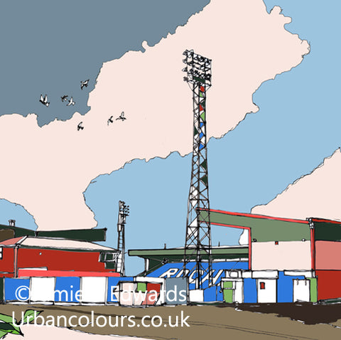 Print of The Spotland Stadium Rochdale AFC image of
