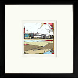 Print of Scunthorpe United FC's Glanford Park in a Black Frame image of