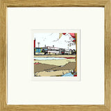 Print of Scunthorpe United FC's Glanford Park in a Oak Frame image of