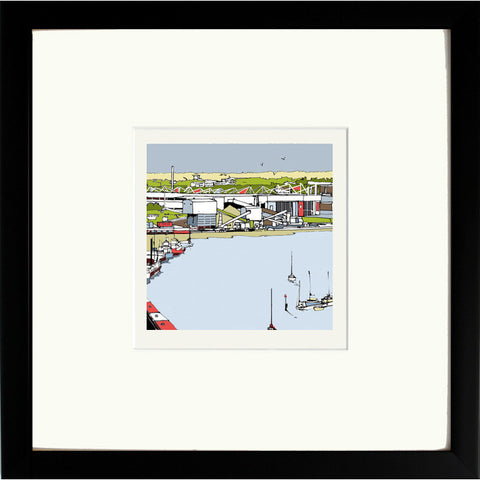 Southampton's St Mary's Stadium Print in Black Frame image of