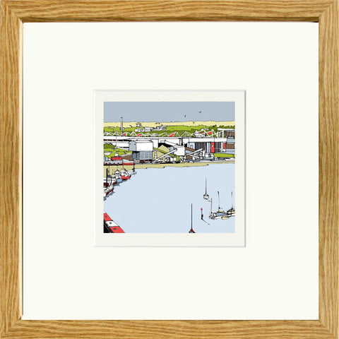 Southampton's St Mary's Stadium Print in Oak Frame image of