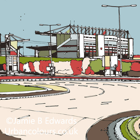 Stoke City FC's Britannia Stadium Print image of