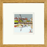 Print of Sunderland AFC's Stadium of Light in Oak Frame image of