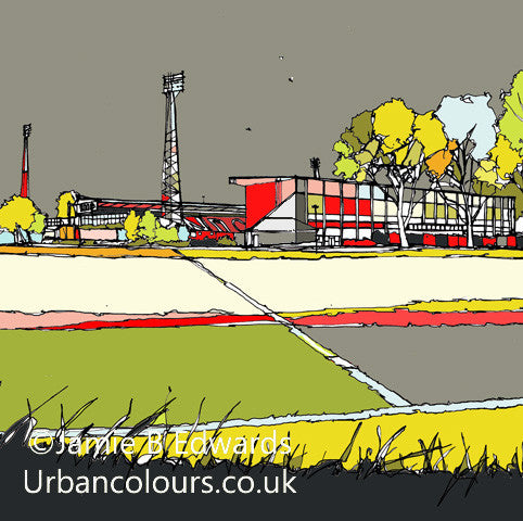 Print of Swindon Town's County Ground image of