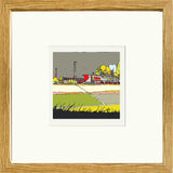 Print of Swindon Town's County Ground in Oak Frame image of