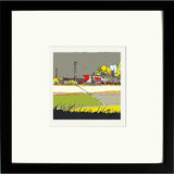 Print of Swindon Town's County Ground in Black Frame image of