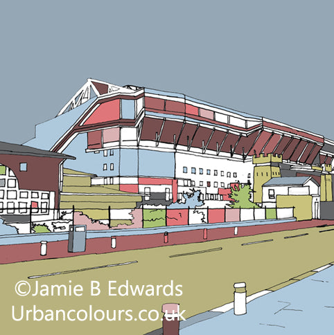Print of West Ham United's Boleyn Ground at Upton Park