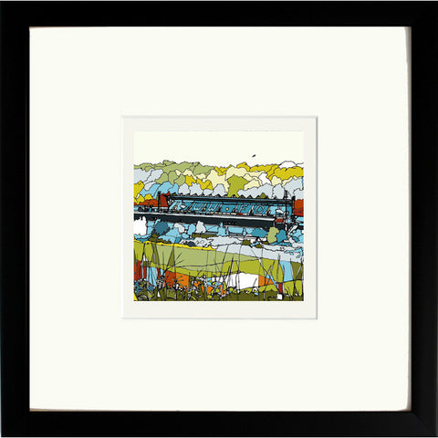 Print of Wycombe Wanderers Adams Park Ground in Black Frame image of
