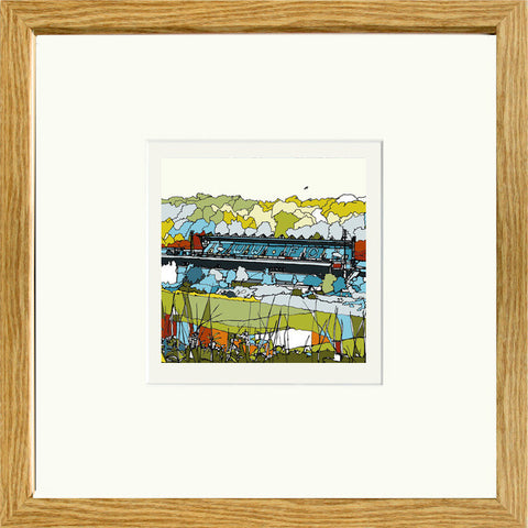 Print of Wycombe Wanderers Adams Park Ground in Oak Frame image of