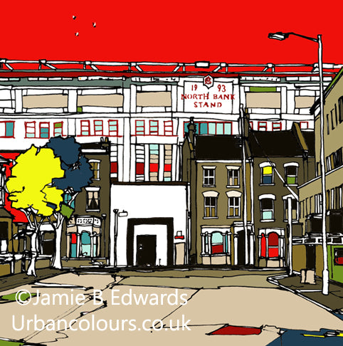Highbury's North Bank Print | the perfect gift for every Arsenal fan