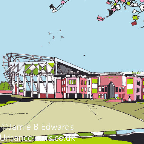 Print of Glasgow Celtic's Parkhead Ground image of