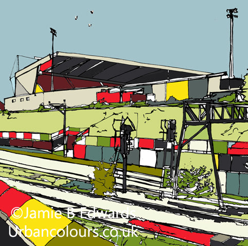 Print of Gresty Road Crewe Alexandra FC image of