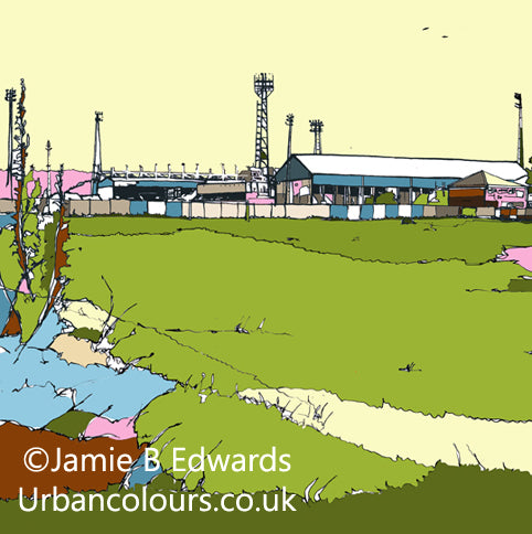 Print of Boundary Park Oldham Athletic FC image of